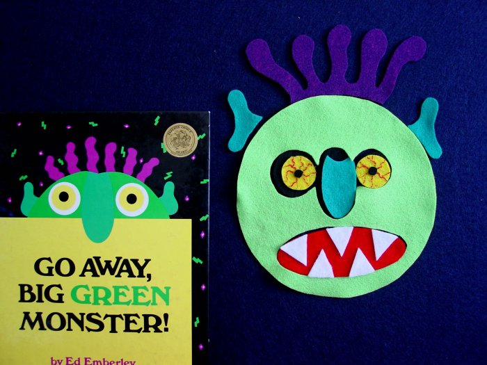 Go Away Big Green Monster 8-pc felt set