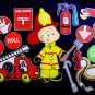 Fire Fighter Gets Dressed 21-pc Felt Set