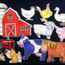 Old MacDonald Has a Farm 11-pc Flannel Board Felt Story