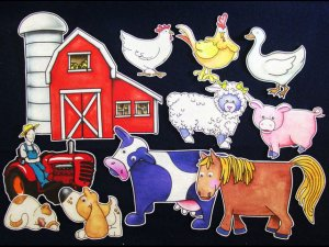 Old MacDonald Has a Farm 11-pc Flannel Board Felt Story