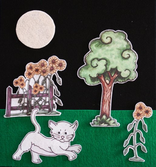 Kitten's First Full Moon 21-pc Flannel Felt Story