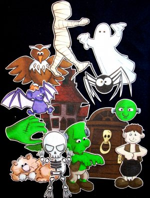 Inside a House That is Haunted 13-pc Flannel Felt Set