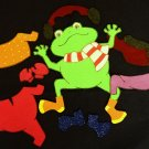 Froggy Gets Dressed 13-pc Flannel Board Felt Story