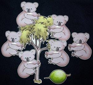 Five Little Koala Bears 8-pc Flannel Felt Set