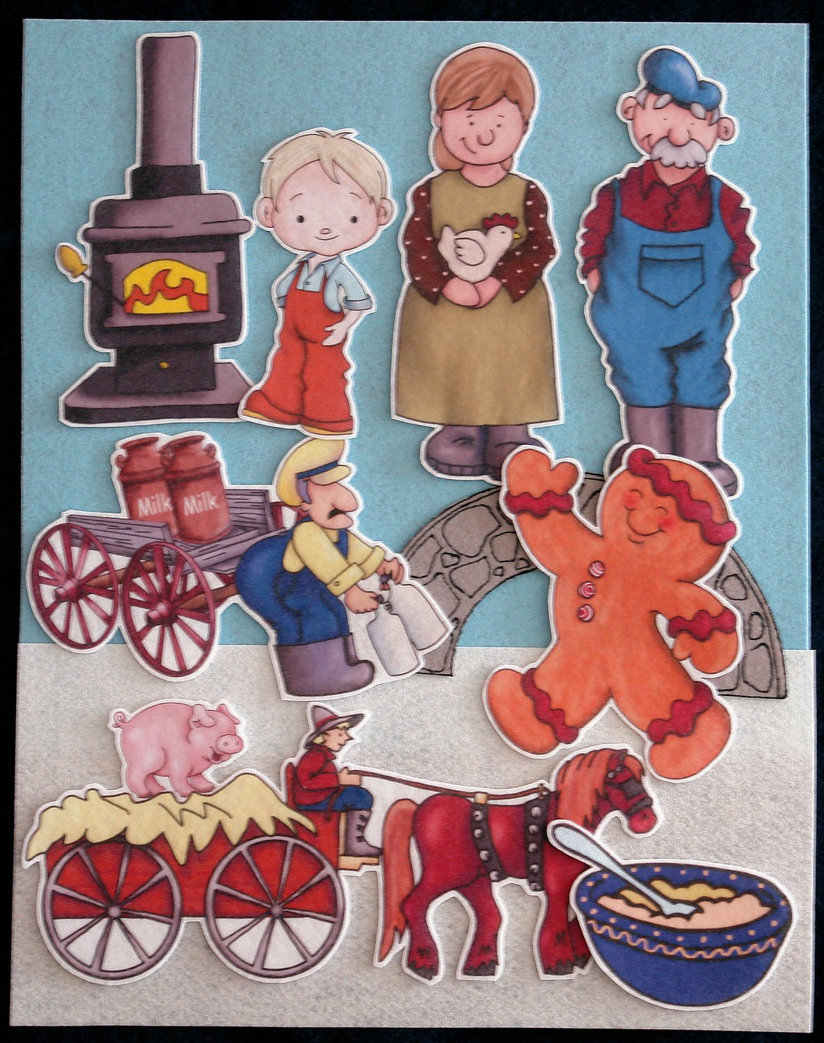 Gingerbread Baby 15-pc Flannel Felt Story