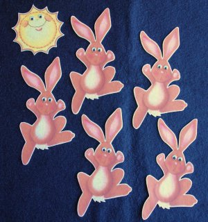 Five Little Bunnies 6-pc Felt Story