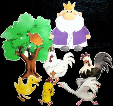 Chicken Little 8-pc Flannel Felt Story