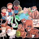 Bear Came Over to My House 15-pc Flannel Felt Story
