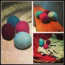 Set of 4 Unscented Wool Dryer Balls