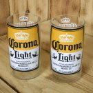 Corona Light 8 ounce juice glasses made from beer bottles