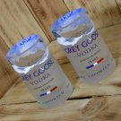 Grey Goose Tumblers made from upcycled vodka bottles