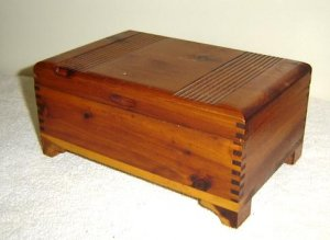 Vintage Pine Jewelry Box CLASSIC Chest
