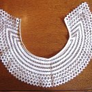 SALE -Extra Large VINTAGE Crochet Tape Lace Collar