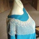 Exqusite  Silk Bobbin Lace Collar - Bertha - Victorian