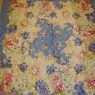 Awsome Vintage Silk Scarf - Blue Mult Floral 1940'S WWII era