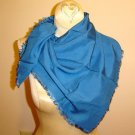 Georgeous, very soft Blue cotton Vintage Scarf - LARGE