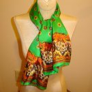 LONG Georgeous Italian Silk Scarf - 1970's