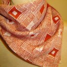 Lovely 1970's Vintage Scarf - Orange Squares