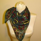 Vintage Scarf - Green Paisley