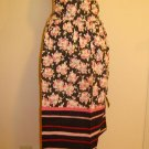 1940's GREAT PATTERN - Pink -Black -Vintage Apron