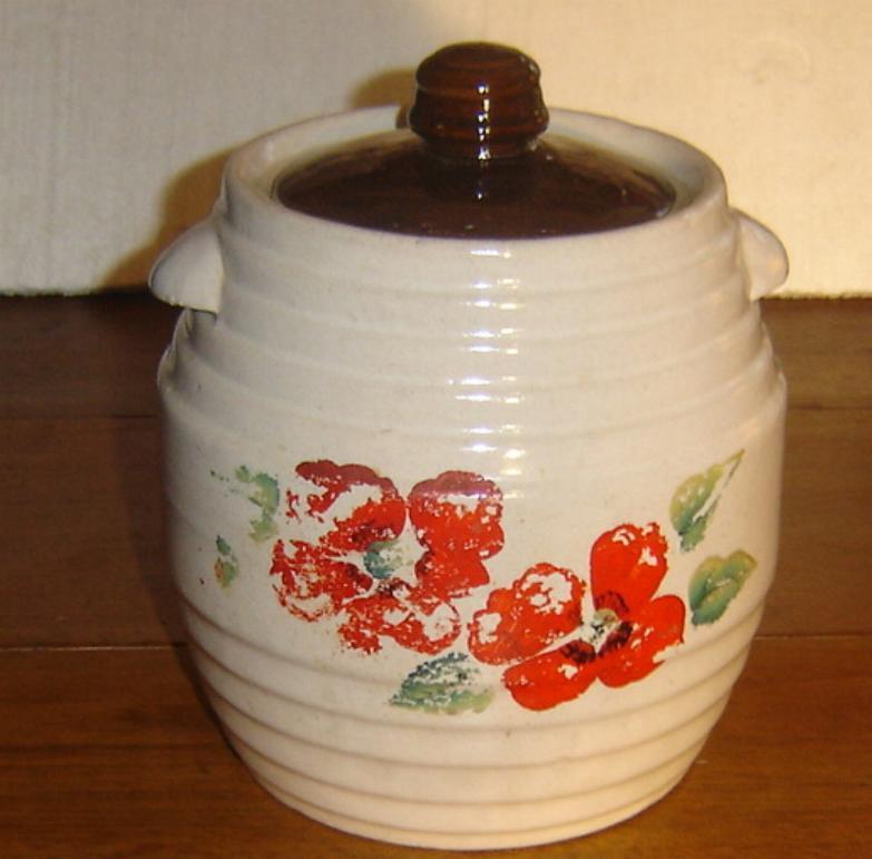 1930 39 s red wing stonewear beehive cookie jar original painting - Beehive cookie jar ...