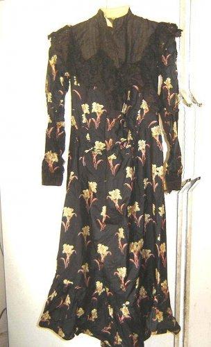 Authentic ORIGINAL Edwardian  SILK MATERNITY Dress -1905-1910 - Provenance