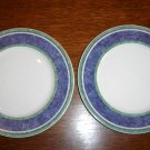 (2) Villeroy & Boch AUCTION -Switch 3 - COSTA Blue Bread Plates