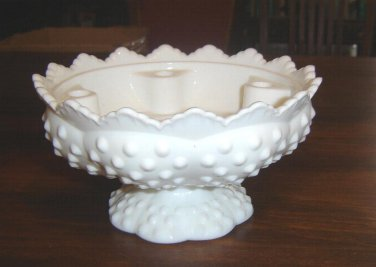 FENTON Hobnail 6-light Candle Holder - Centerpiece - MARKED - EX Cond.