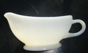 1960's Anchor Hocking -Fire King milk glass GRAVY BOAT sauce dish