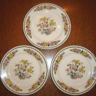 "THREE (3) Homer Laughlin bread plates or saucers - 6 1/4"" - Look unused!"