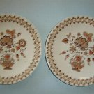 "TWO (2) JOHNSON BROS - 6-1/2"" Bread Salad Plates - JAMESTOWN - Old Granite"