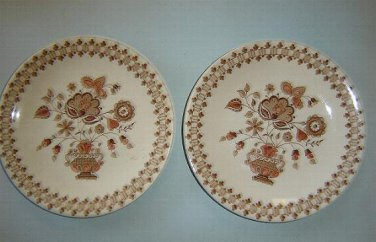 "TWO (2) JOHNSON BROS - 6-1/2"" Bread Salad Plates - JAMESTOWN - Old Granite"