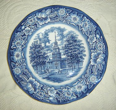 Staffordshire Liberty Blue - Independnce Hall -Dinner Plate
