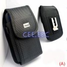 Vertical NYLON Canvas Pouch Holster Metal Clip fits Apple iPhone 4/4S w/ Lifeproof Case on