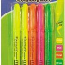 12 packs of 5 Piece Pack Fluorescent Highlighter Asst Colors
