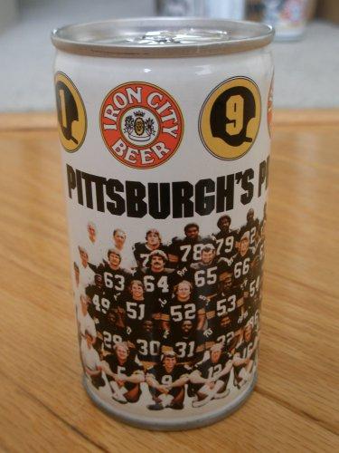 1981 Pittsburgh's Pride Steelers Team Beer Can