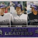 2009 Upper Deck Team Leaders Colorado Rockies