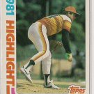 1982 Topps 81' Highlight Nolan Ryan