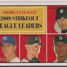 2010 Topps Heritage 09' AL Strikeout Leaders