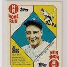 2010 Topps Blue Back Lou Gehrig