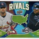 2009 Upper Deck Rivals Albert Pujols & Prince Fielder