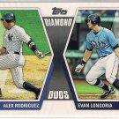 2011 Topps Diamond Duos Alex Rodriguez & Evan Longoria