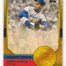 2012 Topps Golden Greats Sandy Koufax