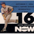2007 Topps Generation Now Justin Verlander