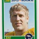 2013 Score Zac Dysert Rookie