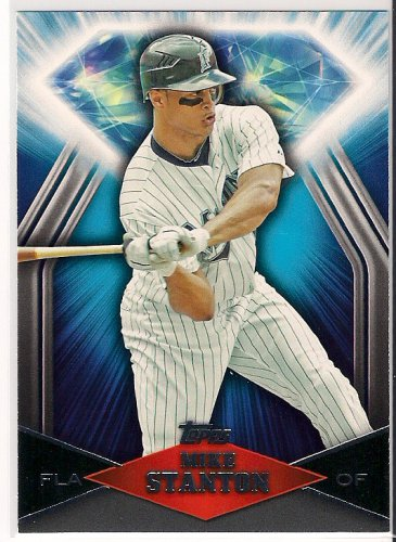 2011 Topps Wal Mart Blue Diamond Mike Stanton