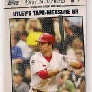 2008 Topps Year in Review Chase Utley