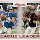 2011 Prestige League Leaders Eli Manning & Carson Palmer