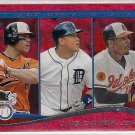 2014 Topps Red Foil Davis, Cabrera & Jones AL RBI Leaders