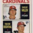 2013 Topps Heritage Cardinals Rookie Stars Shelby Miller & Trevor Rosenthal